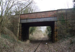 The line crosses under the Oswestry to Welshpool road.
