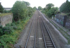 The line crosses the Hereford tracks