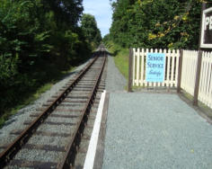 The end of the line at Peny Garreg Halt