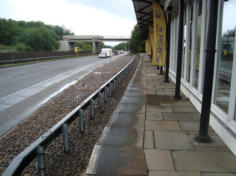 The bypass has replaced the rails at Welshpool